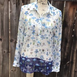NWT. Floral Bloom Prints Blouse